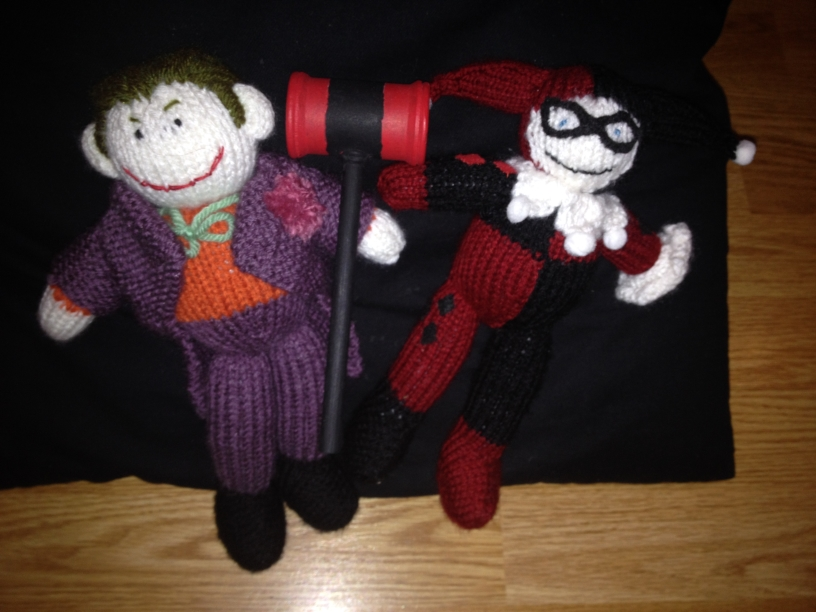 knitted Harley and Joker